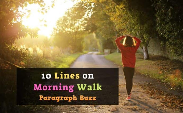 10 Lines on Morning Walk in English