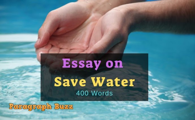 Essay on Save Water in 400 Words