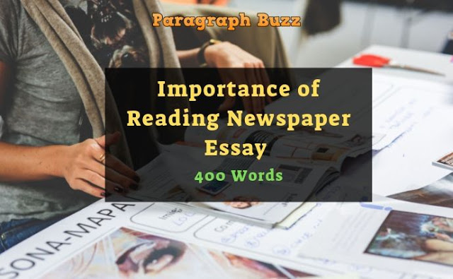 Importance of Reading Newspaper Essay in 400 Words