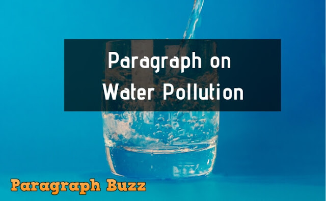 Water pollution paragraph