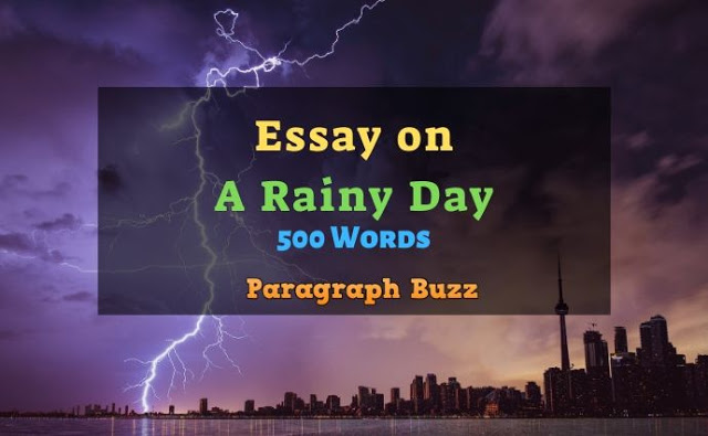 A Rainy Day Essay in 500 Words