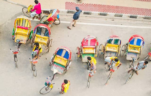 Short Paragraph on A Rickshaw Puller