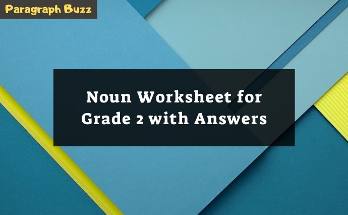 noun worksheets grade 2